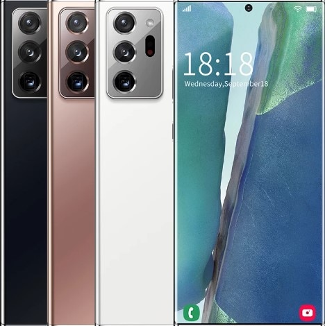 100% Original Samxung Note20U+ 7.5-inch Smartphone Global Version 4G/5G Android 10.0 12GB+512GB Celulares 5000mAh Unlock