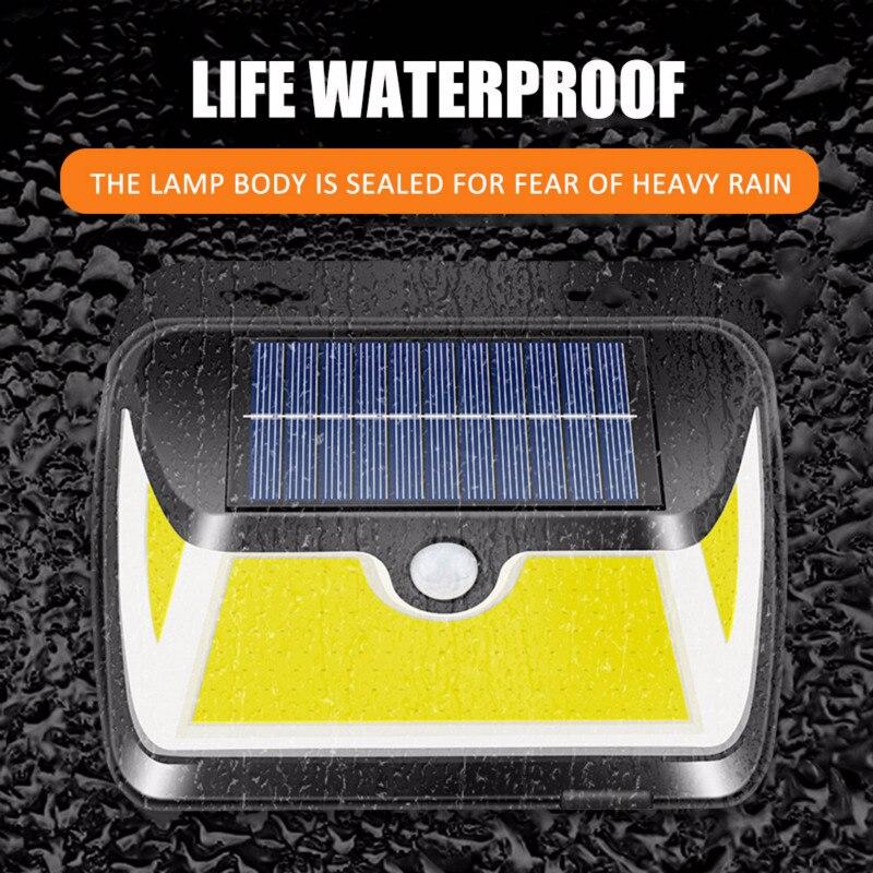 163COB LED Solar Light Outdoor Solar Lamp PIR Motion Sensor Wall Light Available in extreme weather IP65 waterproof garden light