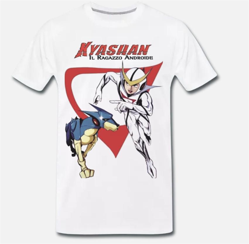 Camiseta Maglia Kyashan Il Ragazzo Android Cartone Anni 80 1-S-M-L-Xl adultos, Casual camiseta