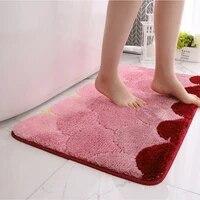 rectangular lattice dust removal mat door mat bathroom toilet absorbent non slip mat double layer household bedroom carpet