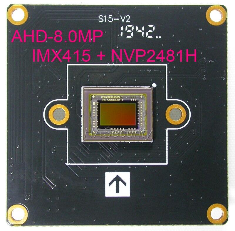 "8MP AHD-8.0MP @ 15fps , 1/2.8 ""Sony IMX415 CMOS sensor de imagen + NVP2481 CCTV Tarjeta de módulo PCB cámara (piezas opcionales)"