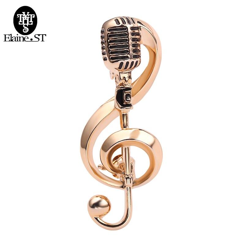 Новые Броши для женщин и мужчин с микрофоном и музыкальными нотами, аксессуары для вечеринок и концертов, рождественские подарки, высокое качество