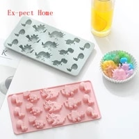 silicone dinosaur chocolate mould 3d resin molds diy soap sweet candy food little animal cartoon pastry baking mold