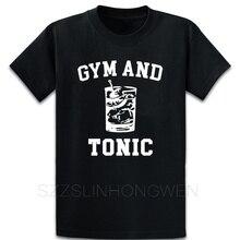 체육관과 토닉 티셔츠 코튼 디자이너 웃긴 여름 패턴 귀여운 크루 넥 오리지널 셔츠