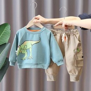 Boys Clothes Sets Spring Autumn Children's Cartoon Cotton Caot Pants 2pcs Tracksuits For Baby Boy Kids Casual Jogging Suits 2 3Y