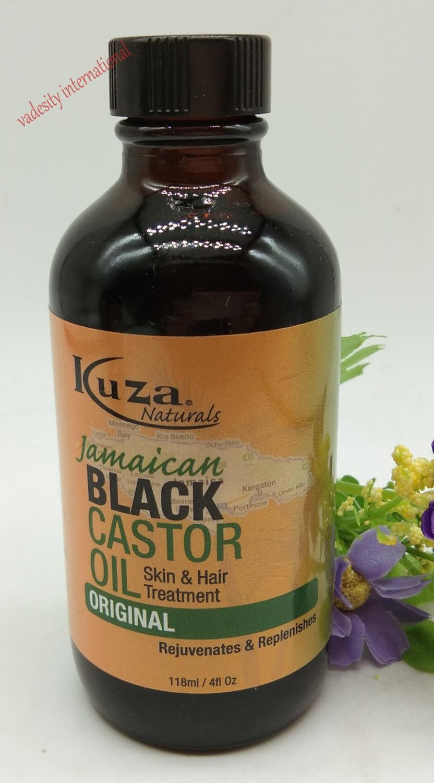 Aceite de ricino negro jamaiquino Kuza original 4 oz/118 ml