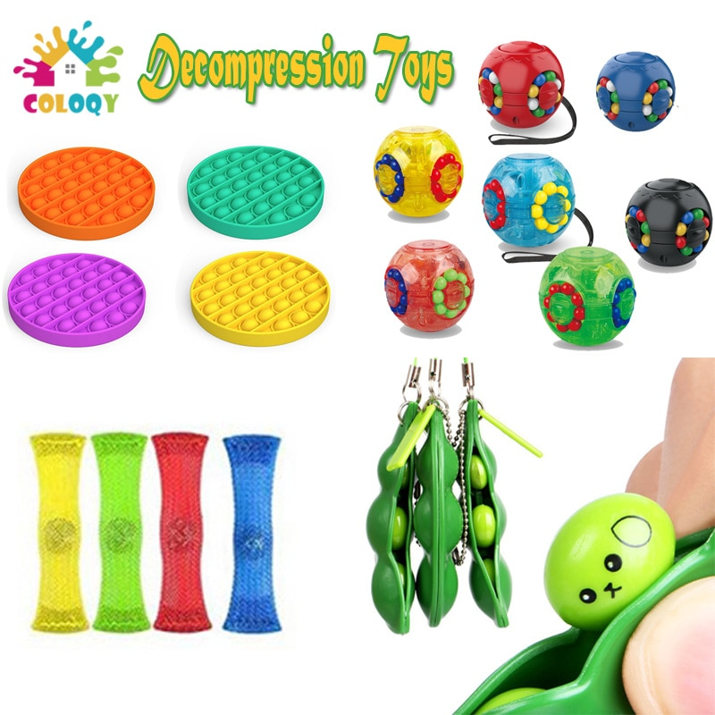 9 pcs/lot  Magic Ball Fidget Toys Set Stress Relief  Autism Anxiety Pop It Push Bubble Fidget Sensory Toys For Kids Adults Gifts enlarge