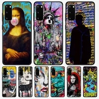 Graffiti Mona Lisa Dictionary Original Page Phone Case For Xiaomi Mi Note 10 6 8 Lite 9 Se 9t Pro A2 A1 Cover