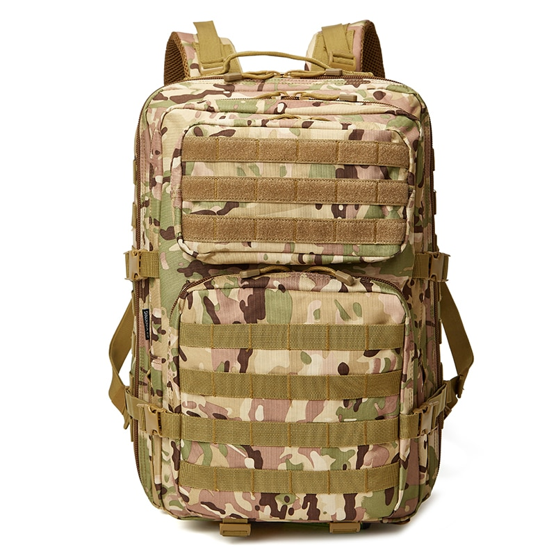 BUCKSGEAR outdoor camping backpack with rain cover 45l camouflage army fans tactical backpack military assault backpack