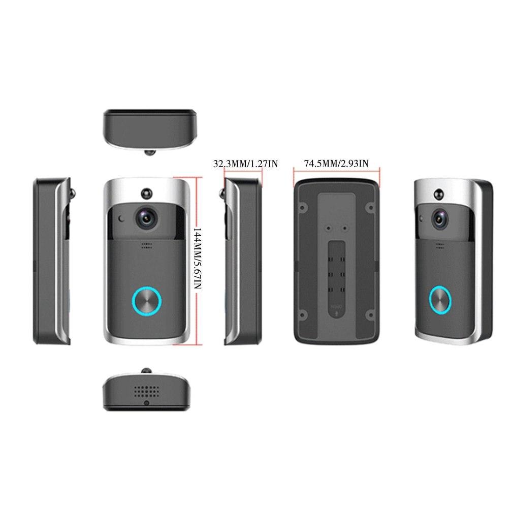 Wifi smart video doorbell Wireless WiFi Video Doorbell Smart Phone Door Ring Intercom Camera Security Bell enlarge