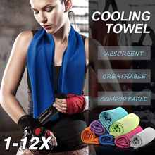 Livraison directe Sport serviette de glace 9 couleurs 90*30cm utilitaire durable refroidissement instantané visage serviette soulagement de la chaleur réutilisable refroidissement Cool serviette