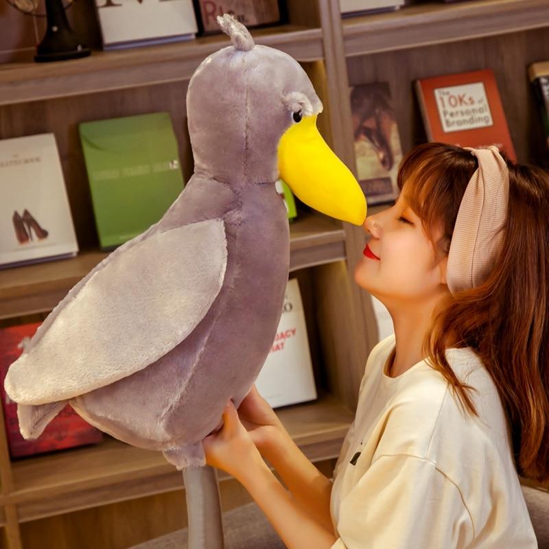 ¡Oferta! Juguete de felpa Balaeniceps rex de Kiwi pájaro, Animal suave relleno, bonitos muñecos de pájaros, juguetes para niños, decoración del hogar, regalos de cumpleaños para niños