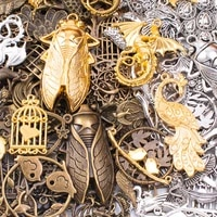 diy 50g 100g mixed flying animals insects butterfly metal charms pendants vintage antique bronze bracelets necklace for jewelry