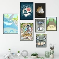 posters and prints my neighbour totoro studio ghibli anime classic anime poster wall art picture canvas painting for home decor