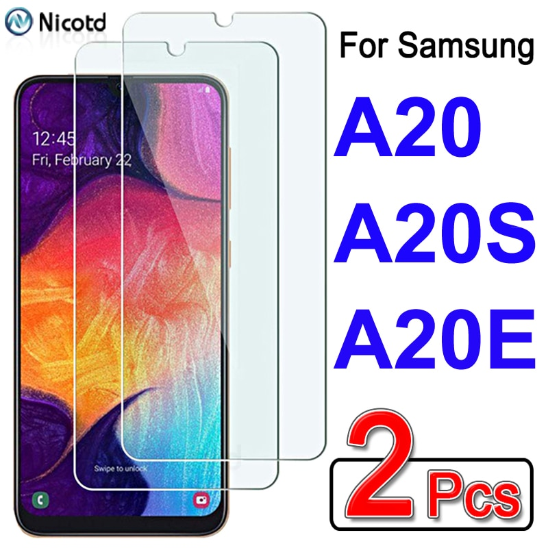 2pcs/lot 9H Protective Glass On for Samsung Galaxy a20e a20 a20s Screen Protector Tempered Glass Film For Glaxay a20 e a20 s a20