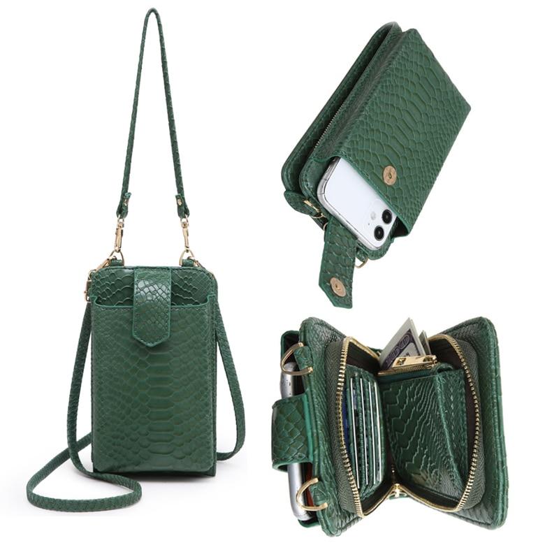 2021 New Ins Hot Phone Crossbody Bag Python Pattern 2 Leather Strap Purse Clutch Bags Designer Phone Bag Mutifunction Wallet
