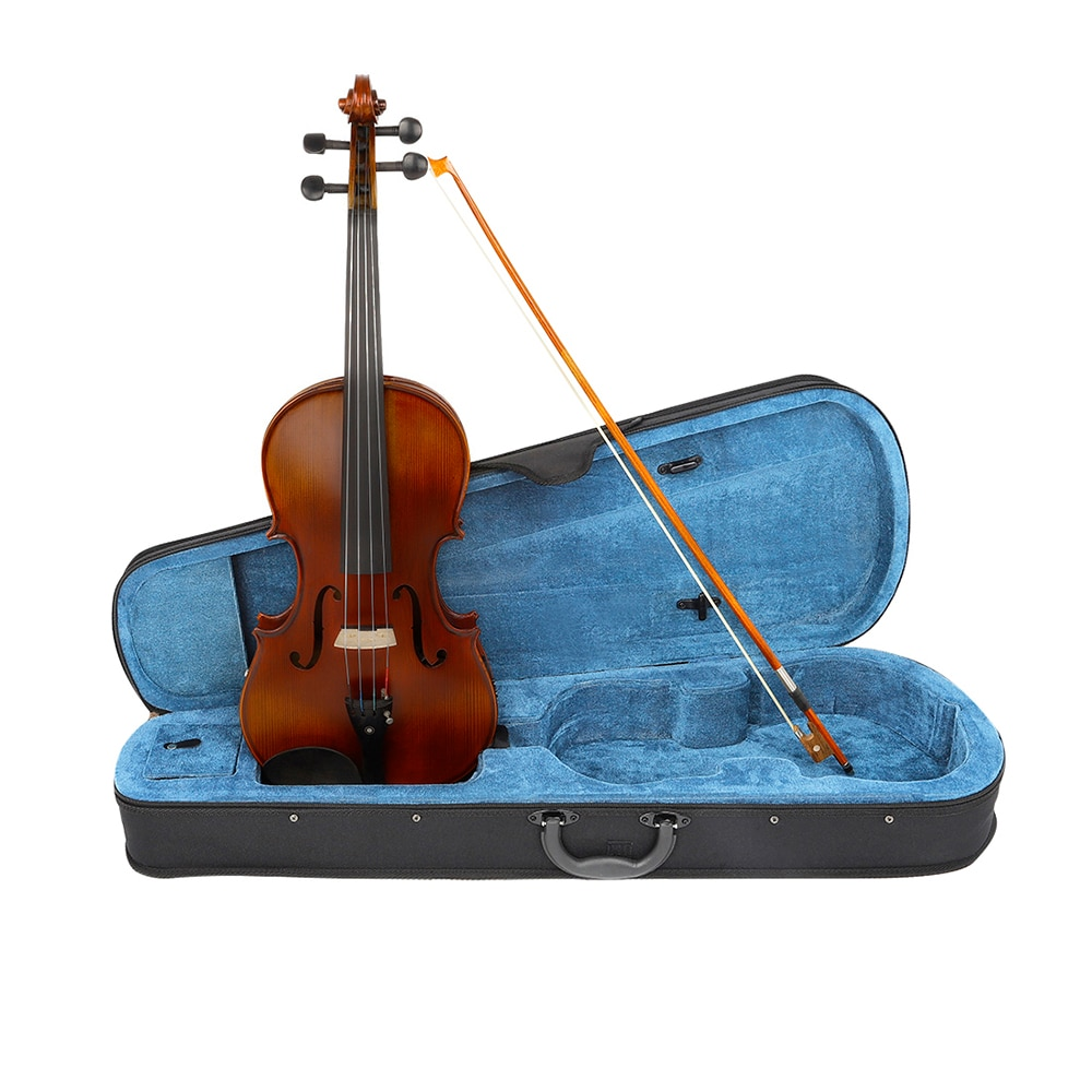 High Quality 4/4 Viola With EQ Spruce Panel Solid Wood Matte Electric Viola Stringed Instrument With Case Bow For Musical Lover enlarge