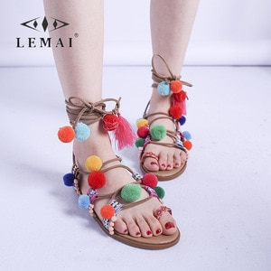 Fashion Colorful Flat Women Boho Sandals Cross-strap Breathable Seaside Holiday Shoes for Women 2021 Clip-toe Summer Sandals