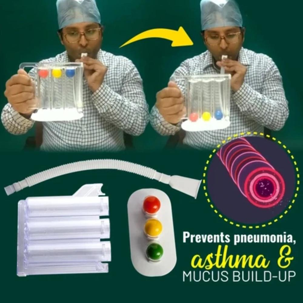 Meia-idade e idosos função pulmonar exercício reabilitação dispositivo de treinamento spirometria respiração trainer