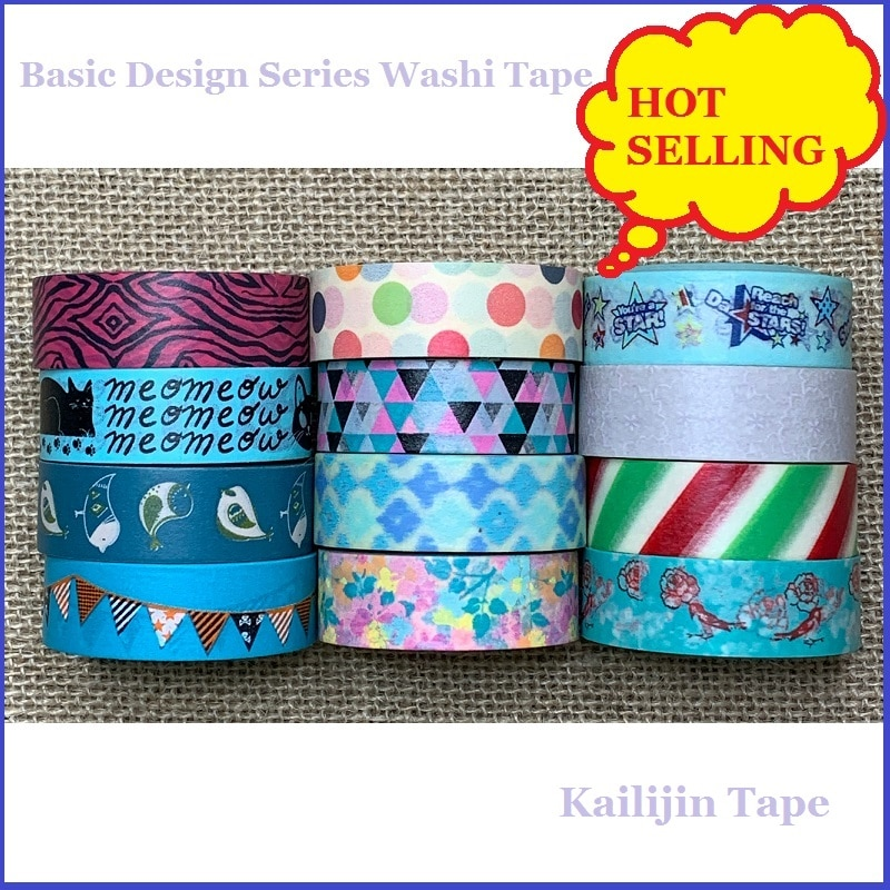 Базовый дизайн лента Washi полоса лента Washi декоративный скотч с цветочным принтом модная лента Washi