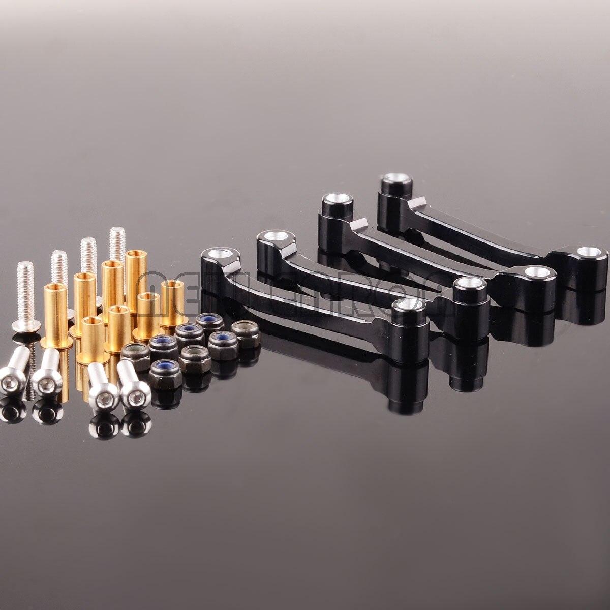 4pc raio de alumínio do braço para o carro modelo rc tamiya 1/14 trator caminhão rei cavaleiro 56301 56304 56309 56314 rei cavaleiro hauler r620