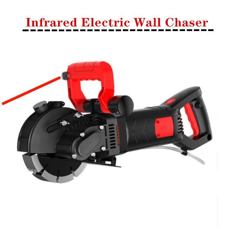 220V 5.5KW + 6.0KW sierra eléctrica de pared máquina de corte de ranura de pared máquina de corte de hormigón de acero