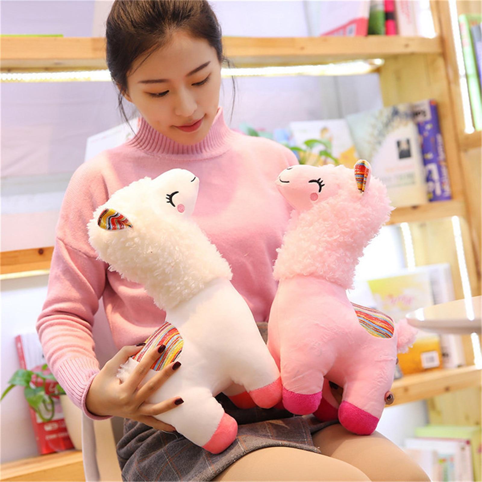 Cute Llama Doll Plush Alpaca Alpaca Plush Toys Sheep Children's Birthday Gift Lovely Llama Plush Fortnites Peluche Fidget Child#