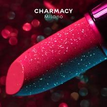CHARMACY Shiny Metallic Lipstick Glitter Matte Lipstick Velvet Lipstick Lip Makeup Longlast Shimmer
