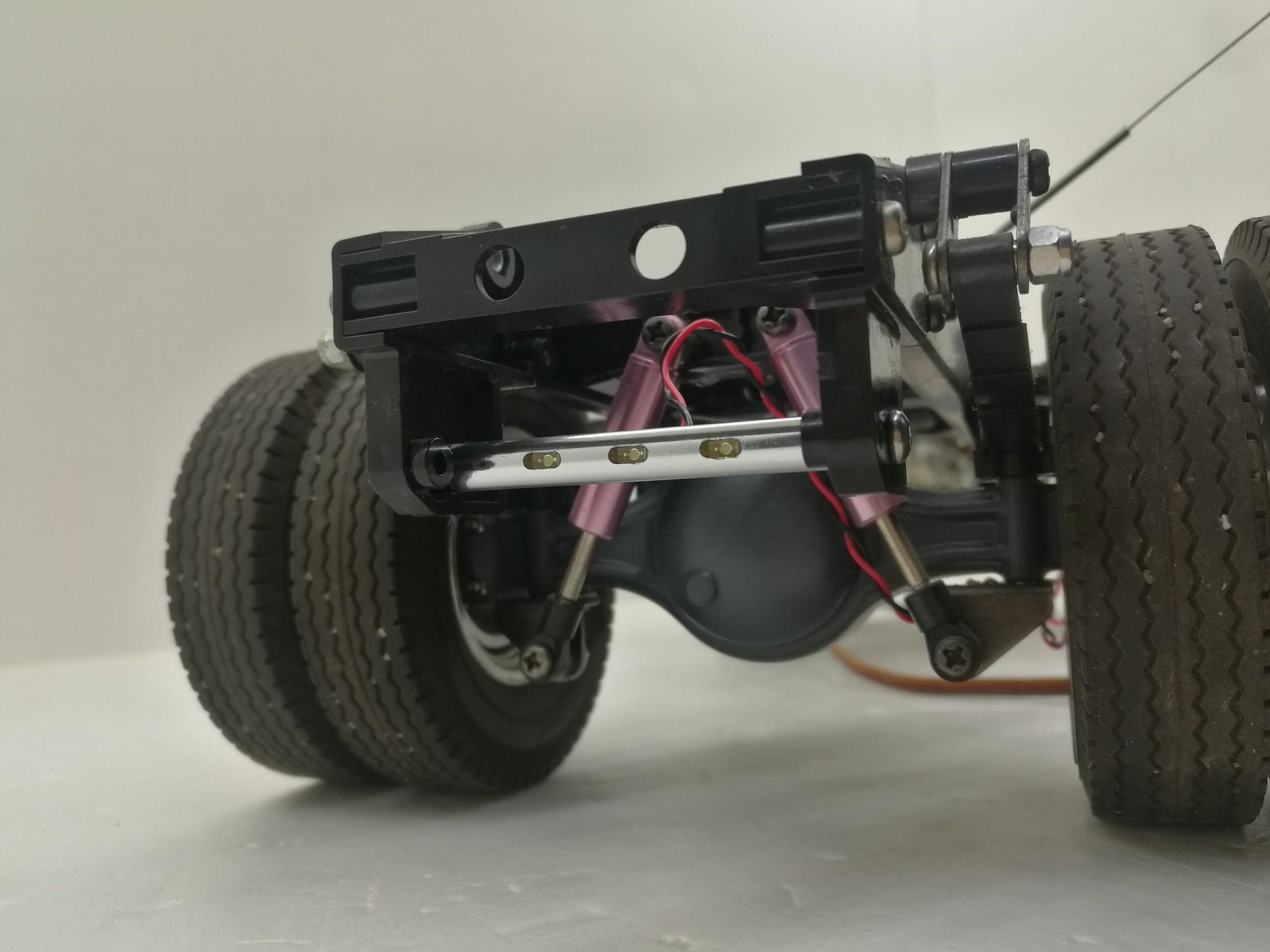 Led Aluminum rod Tail beam Pole light taillight Refit lamp For 1/14 Tamiya RC Truck car 56360 56323 Scania ACTROS MAN AROCS enlarge