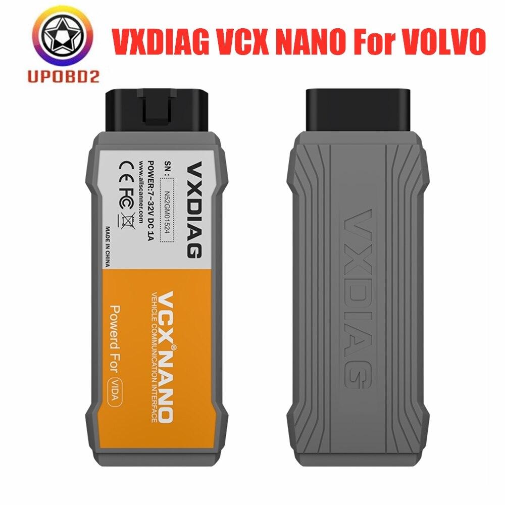 OBD2 VXDIAG para Volvo Vida herramienta de diagnóstico de coche de dados 2014D VXDIAG VXC NANAO para Volvo Vida Dice obd2 lector de código para Volvo Dice