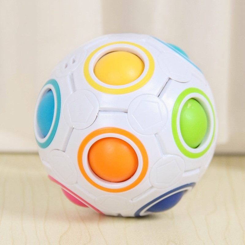 Creative Magic Rainbow Ball Cube Speed Puzzle Ball Kids Educational Learning Funny Gifts Toys for Children Adult Stress Reliever enlarge