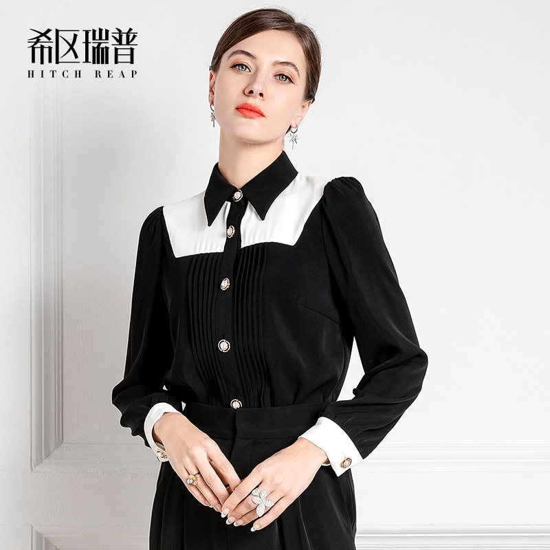 The New French Black And White Top In Autumn 2021 New French Black And White Top In Autumn