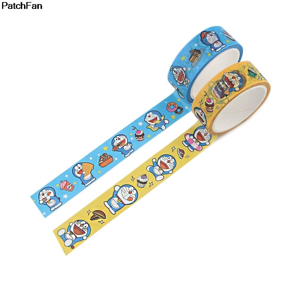 A3542 patchwork Doraemon lindo Anime Washi cinta de papel DIY cinta adhesiva de papelería cinta adhesiva suministros