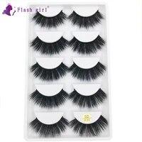 5 pairs eyelashes wholesale 5d w30 handmade natural volume soft 5d mink false eyelashes wispy fake eye lash in bulk