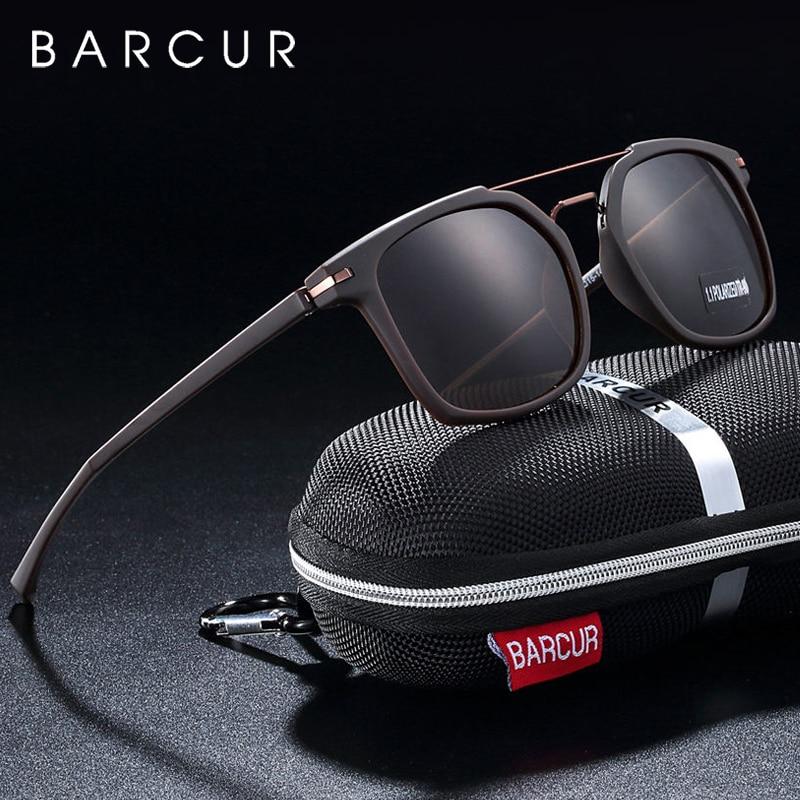 BARCUR Luxury Brand TR90 Frame Sunglasses for Men Sunglasses Ladies Sports Eyewear