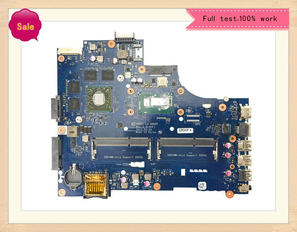 LA-9982P اللوحة الأم لأجهزة الكمبيوتر المحمول ديل انسبايرون 15R-5537 3537 اللوحة الرئيسية الأصلية I7-4500U 2GB بطاقة الرسومات 100% اختبار OK