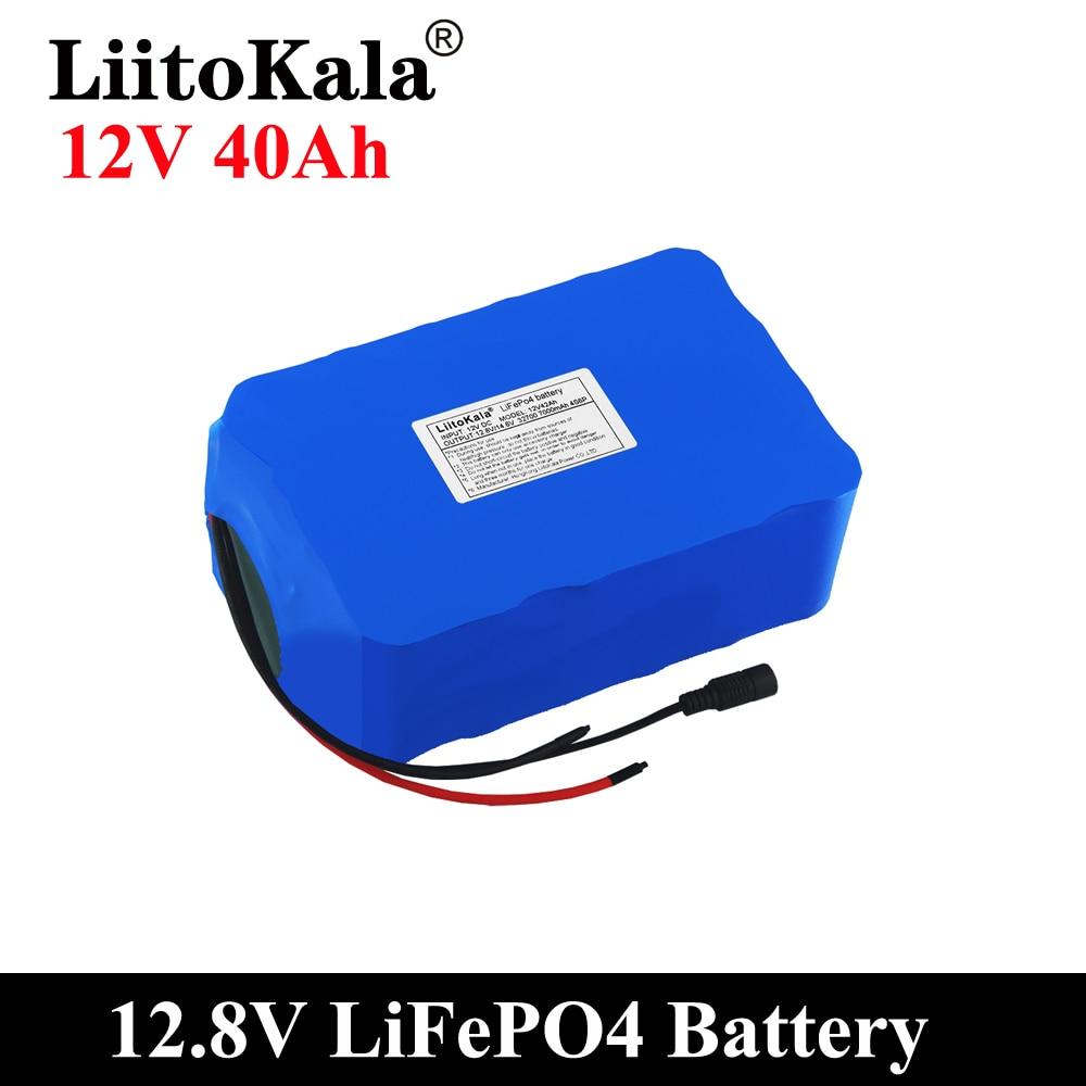 LiitoKala 12 فولت 20 أمبير 30 أمبير 35 أمبير 40 أمبير 50 أمبير LiFePO4 بطارية قابلة للشحن حزمة 12.8 فولت دورات الحياة 4000 مع المدمج في BMS حامي