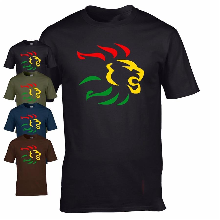 León del Reggae Tops camiseta dub ska skanking roots club música festival camiseta fresca moda Estilo clásico