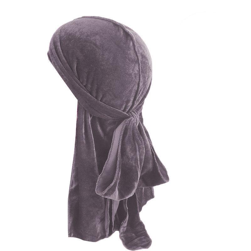 Stock Local hombres mujeres terciopelo pañuelo transpirable sombrero gorro musulmán Doo Durag Headwear turbante indio nuevo negro azul gris naranja