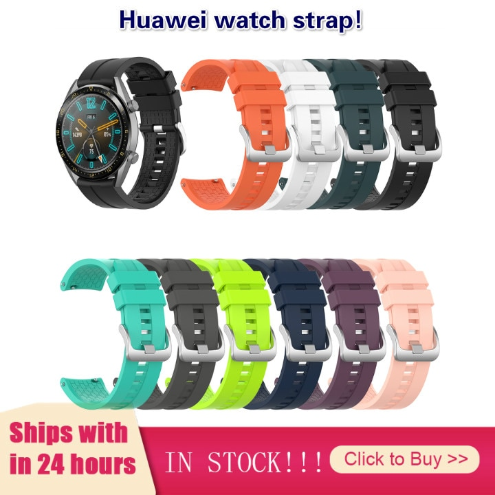 Width 22MM Watch Wearable Devices Smart Accessories Applicable To Huawei Watch GT 46mm Official Silicone Strap Universal Display