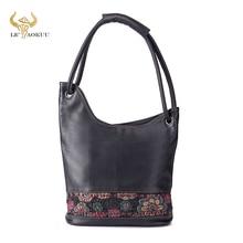 Soft Natural Real LEATHER Famous Brand Luxury Ladies Large Shopping handbag Shoulder bag Women Desig