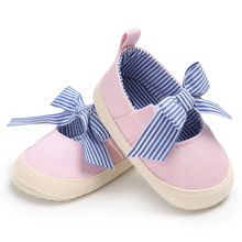 Summer 0-18 Months Cute For Newborn Infant Baby Girls Soft Shoes Bowknot Soft Sole Prewalker Casual