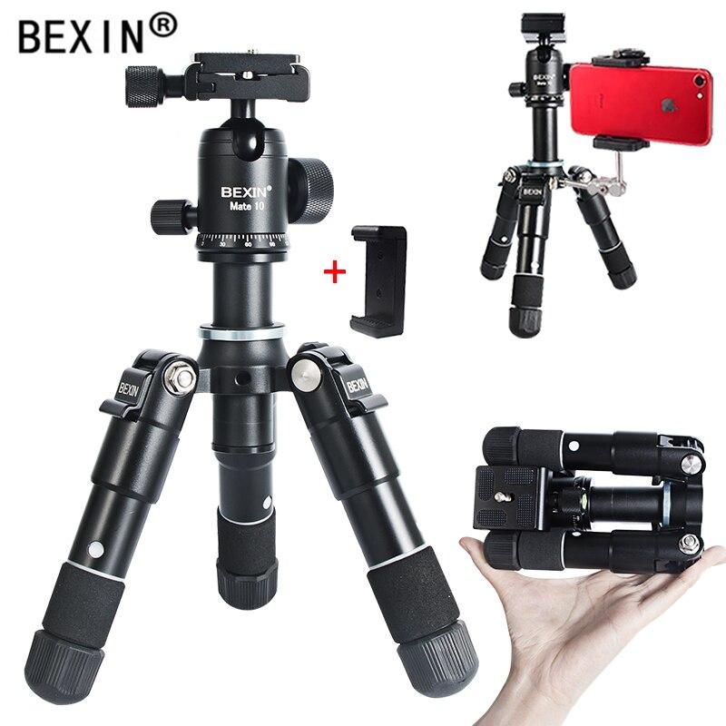 BEXIN дорожный гибкий портативный легкий настольный мини-штатив с шаровой головкой, держатель для телефона, держатель для SLR камеры