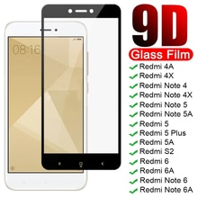 9D Full Screen Protective Glass On Redmi Note 4 4X 5 5A 6 Pro For Xiaomi Redmi 4X 4A 5A 5 Plus 6 6A