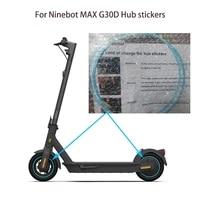 g30d hub sticker for ninebot max g30d light blue wheel rims decor strip tire guard line rubber moulding trim