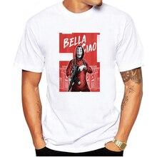 LUSLOS 2019 La casa de papel T Shirt Funny Money Heist Printed T-shirts Men House of Paper T-shirt Casual Loose Clothing Male