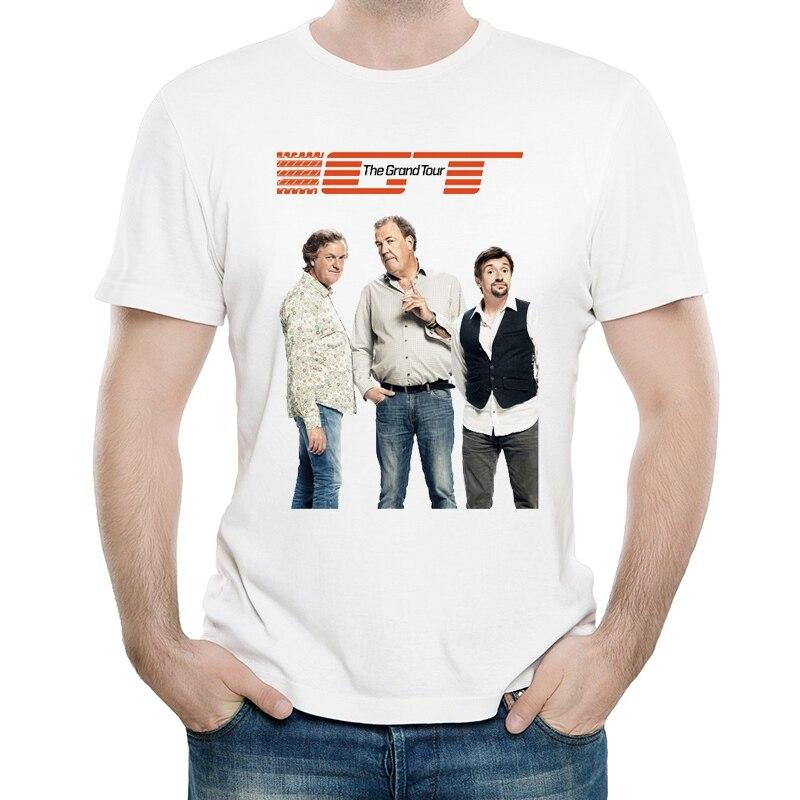El Gran Tour T camiseta Color blanco de moda para hombre de manga corta el Grand Tour camiseta tops polos camiseta Casual