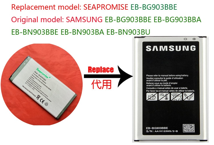 Reeshipping Розничная батарея EB-BG903BBE для Galaxy S5 Neo SM-G903FD, Galaxy S5 Neo Duos SM-G903F, Galaxy S5 Neo LTE-A SM-G903W