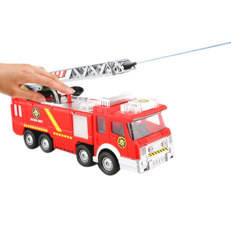 Water Spray Fire Truck Toy Car Toy Fire Truck Firefighter Sam Fire Truck Car Music Light Educational Toy enlarge