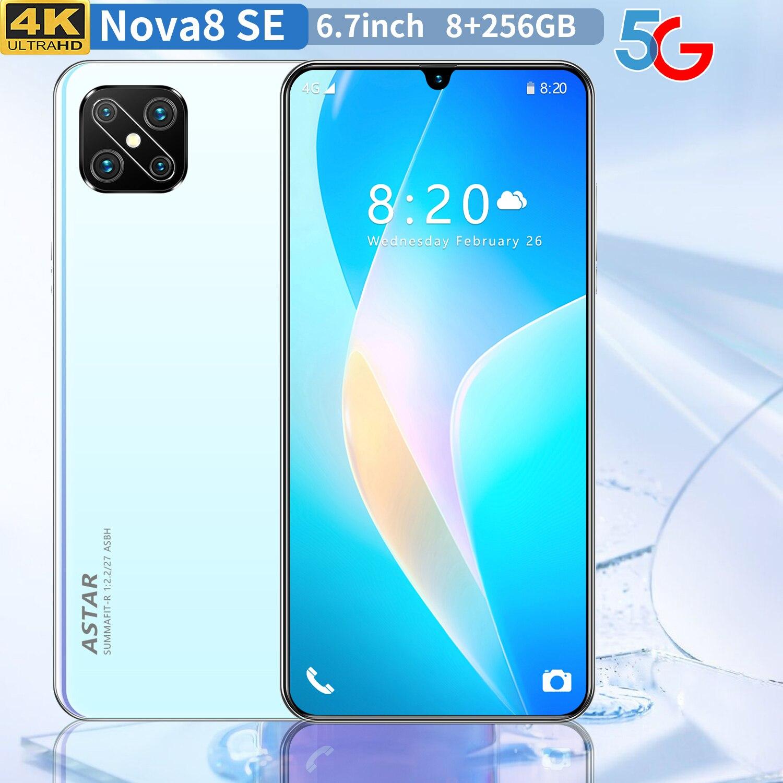 Smart Phone A92S 8GB RAM 256GB ROM 13MP 24MP 6.3 Inch HD Big Screen 4G LTE Smartphone Android 9.0 Unlocked Dual Sim Mobile Phone